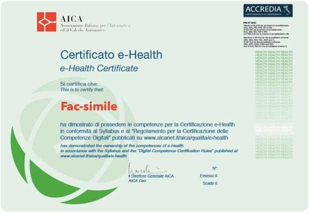 Certificato E-Health
